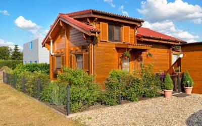 Ferienhaus aus Holz als Erstwohnsitz beim Seepark Südheide